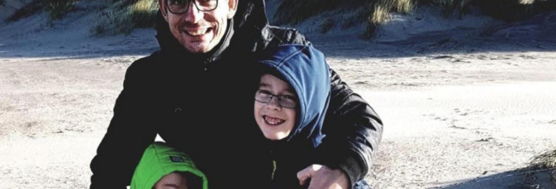Een foto van Cor Norder op het strand