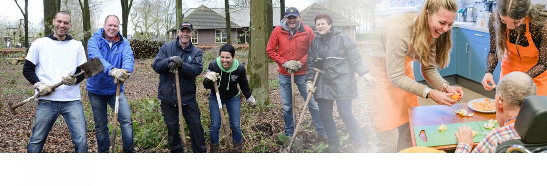 Twee foto impressies van medewerkersvrijwilligerswerk